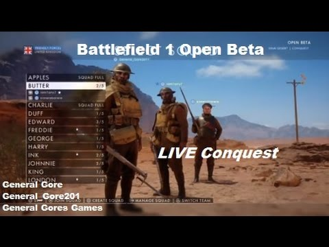 Battlefield 1 LIVE! Open Beta - Conquest