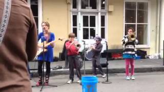 Amazing kid street musicians in New Orleans