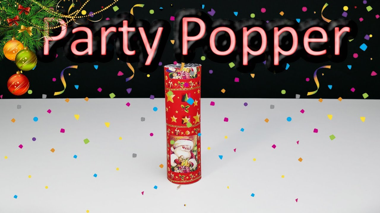 How To Make Big Party Popper - DIY New Year Ideas 2018 ...