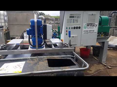 Willacy Oil Services pilot centrifuge in action