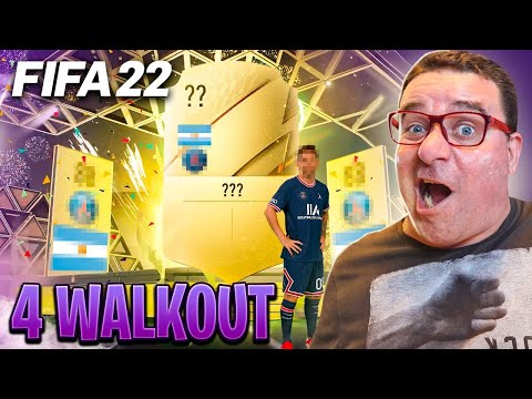 FIFA 22   PRIMEIRO PACK OPENING C/ 4 WALKOUT