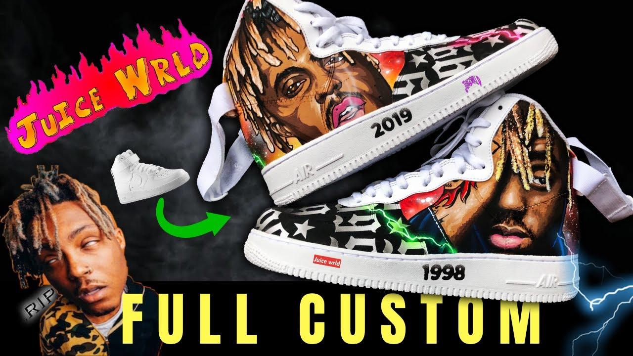 Full Custom   JUICE WRLD TRIBUTE AF1 by