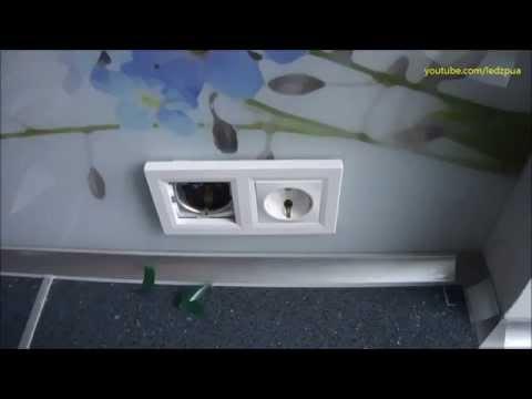 Установка розеток в стеклянный экран кухни