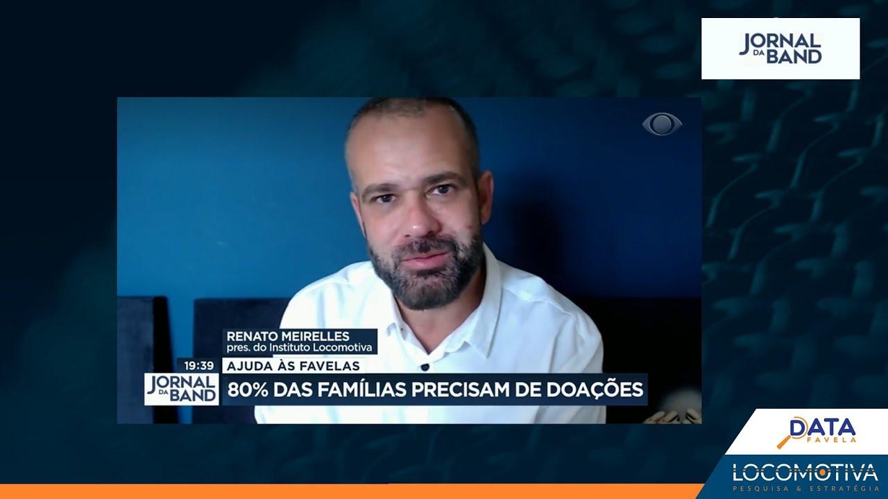 JORNAL DA BAND: 80% das famílias moradoras de favelas precisam de doações para sobreviver