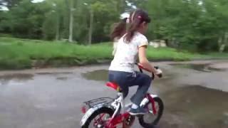 Велосипед + лужи!!! Велопрогулка по лужам)))