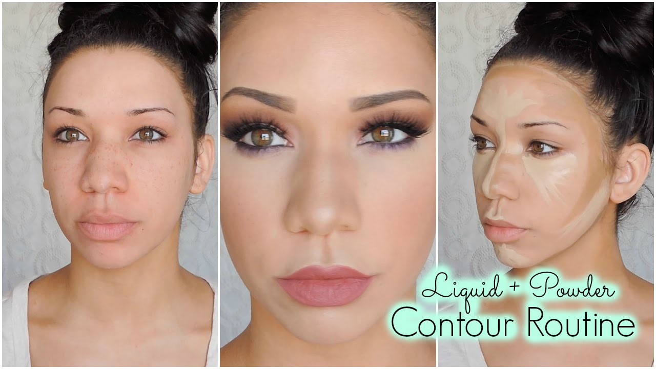 Current Contour Routine How I Make My Nose Look Smaller Youtube