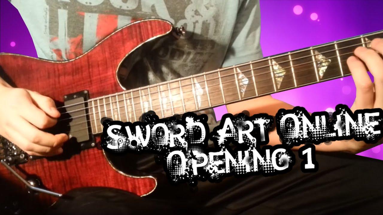 Crossing Field (Sword Art Online Opening 1) guitar cover - YouTube