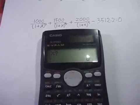 Internal Rate of Return (IRR) Calculation Using Casio MS Scientific Calculator - YouTube