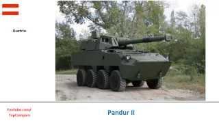 Pandur II versus ASLAV, 8x8 personnel carriers specs
