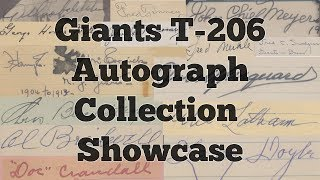 """T206 Giants Autograph Project """"Complete"""" Full Collection Showcase"""
