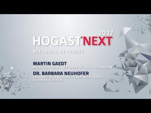 HOGAST-NEXT Live |   Rock Your Idea |  Erlebnisinszenierung in der Hotellerie - Visionen für 2020