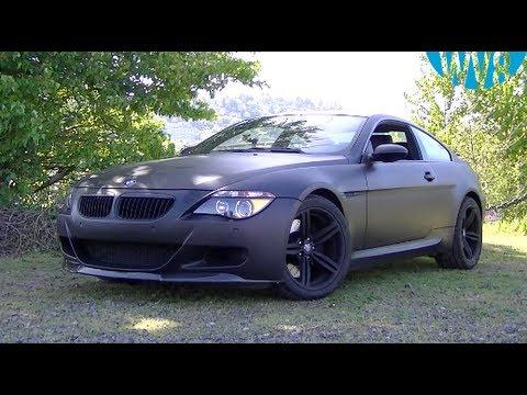 Matte Black Bmw E63 M6 V10 With Custom Exhaust