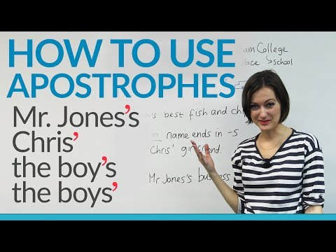 How to use apostrophes in English