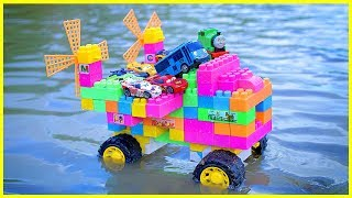 Assembly Lego Truck Toy | Lego Truck Transport Tayo Bus, Thomas Train Crossing On Deep Water