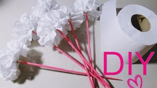 DIY/Faça você mesma : Flor feita com papel higiênico | Dica de decoração