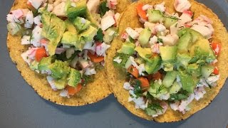 Crab Salad Tostada - Using Healthy Servings
