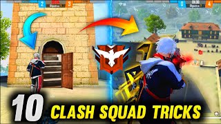 TOP 10 CLASH SQUAD TIPS & TRICKS FREE FIRE (Without teammate help)