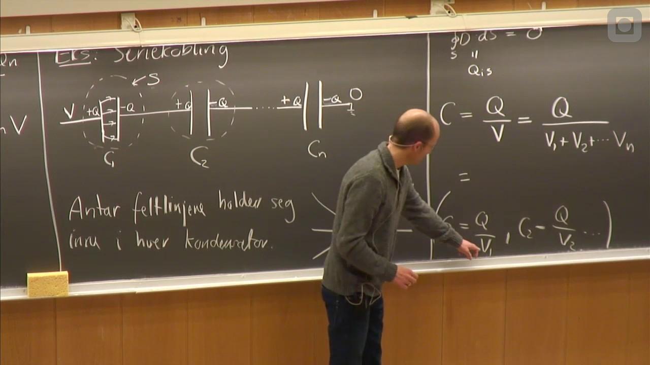 16   Kapasitans, energi i en kondensator