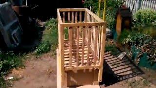 видео Детская кроватка: своими руками маятник сделать