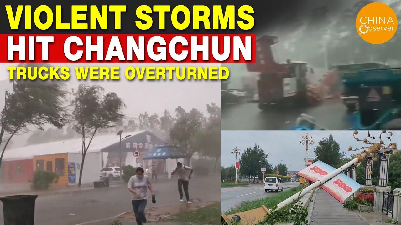 Violent Storms Hit Changchun, Trucks Were Overturned, Unique Drainage System Plays a Key Role