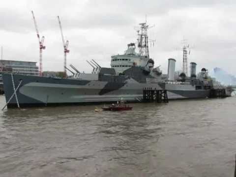 HMS Belfast fires cannons for 1812 Overture
