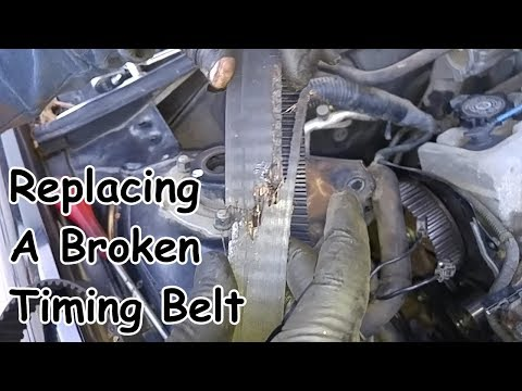 Broken Timing Belt Replacement – Toyota I4 5SFE Engine