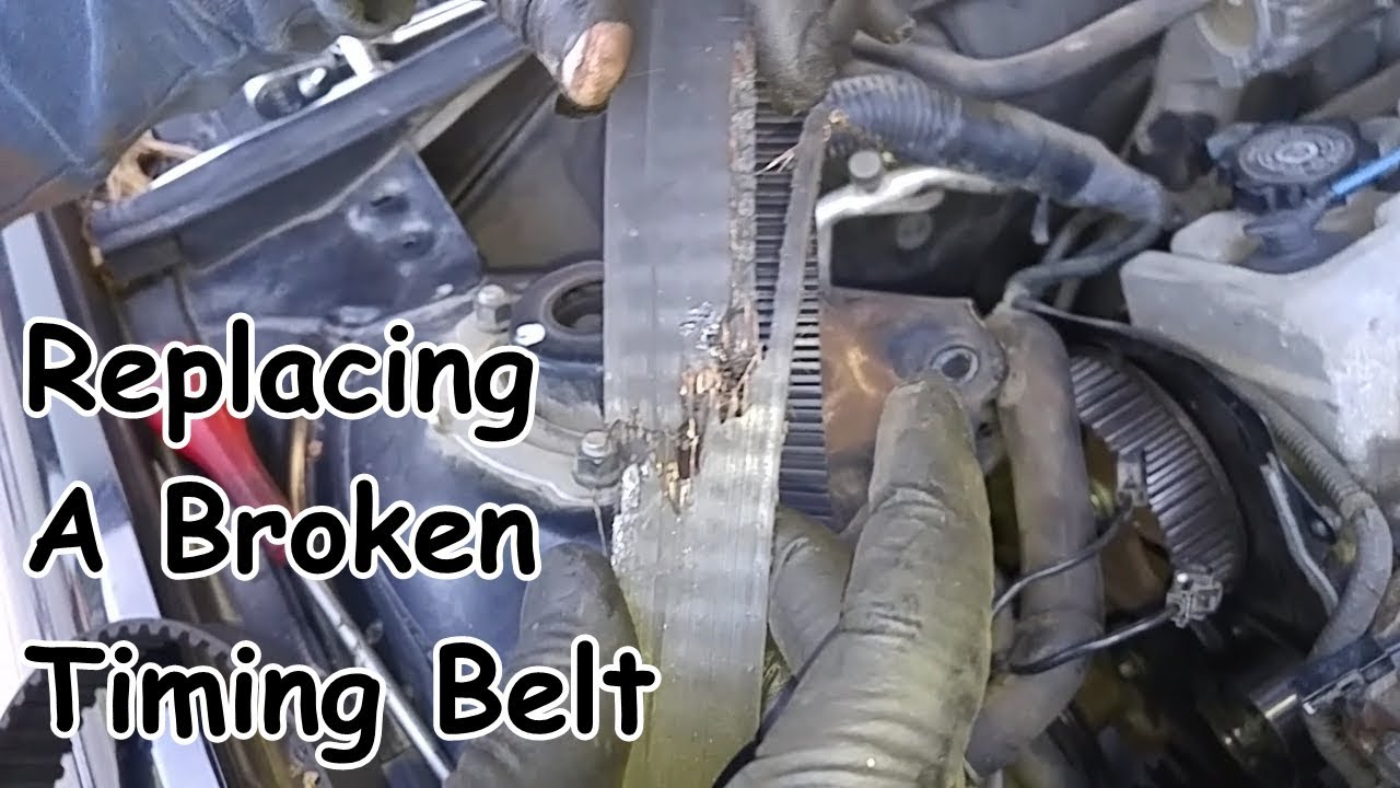 toyota camry 5sfe engine timing belt water pump and seal replacement with video axleaddict [ 1280 x 720 Pixel ]