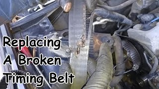 Broken Timing Belt Replacement - Toyota I4 5SFE Engine