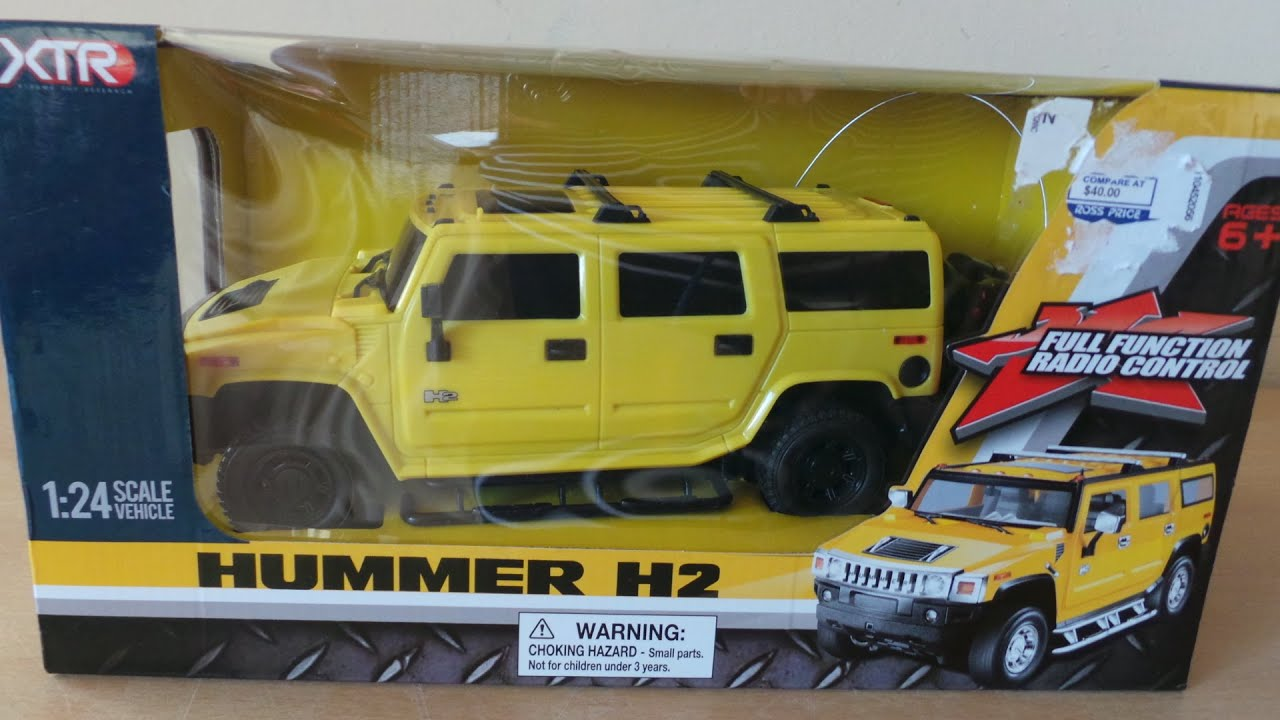 1 24 SCALE REMOTE CONTROL HUMMER H2 UNBOXING AND VS PLAYDOH AND