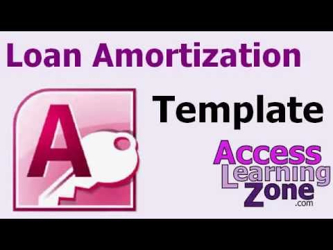 Microsoft Access Loan Amortization Database Template Walkthru