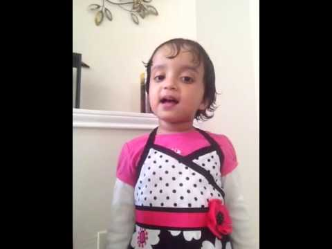 2 year and 8 month old baby singing