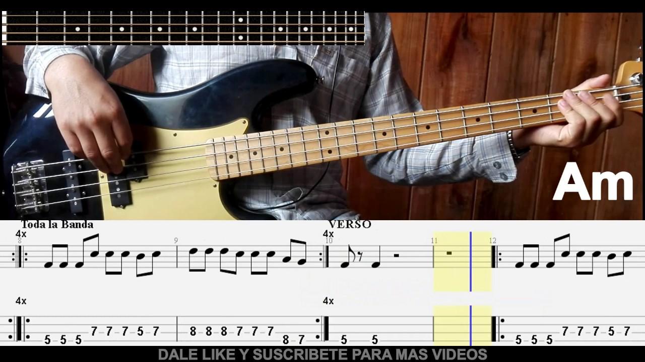 Grande y fuerte miel san marcos | cover bass / bajo tab.