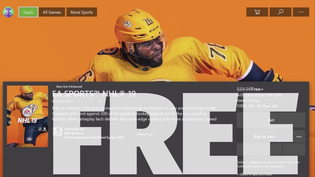 How To Download Ea Sports Nhl 19 For Free In Xbox One Xbox One