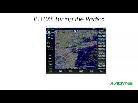 Avidyne IFD100 - Tuning the radios from the IFD100 App