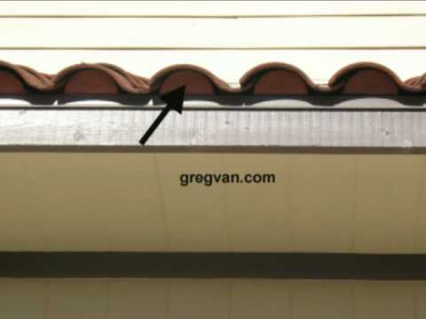 Clay Roof Eave Closure Birds And Pest Prevention Roofing