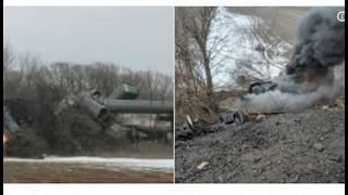 Train On Fire After Derailment In Attica  New York