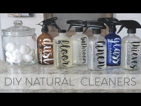 HOW TO MAKE NATURAL CLEANING PRODUCTS | ESSENTIAL OILS | DIY NATURAL CLEANERS