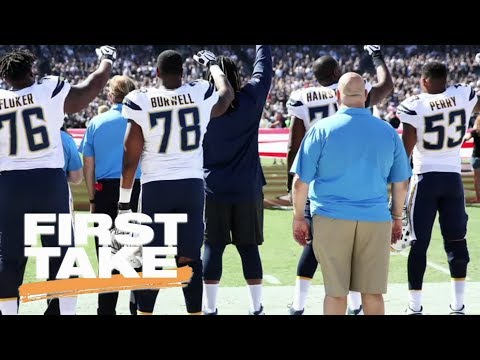 White NFL players show support for teammates protesting national anthem   First Take   ESPN