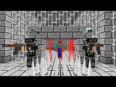 NOOB BỊ BẮT VÀO TÙ VÌ...NGÁO (Minecraft PRISON ESCAPE 2)