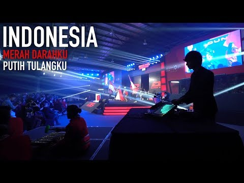 Lagu Nasional - Gebyar-gebyar [COVER] Live at OPENING CEREMONY IGC 2018 by ALFFY REV ft AWDELLA