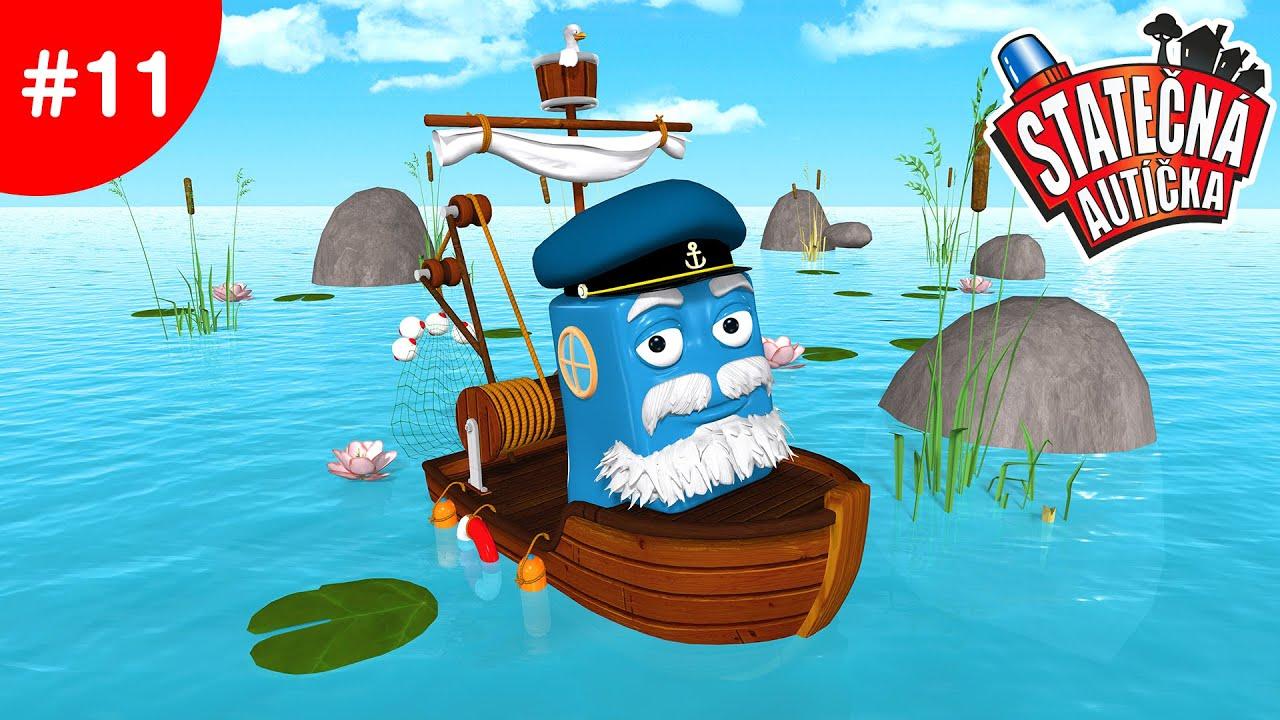 Statecna Auticka Rybar Fred V Nebezpecnych Vodach Kreslene Pro