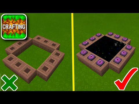 How to Make END PORTAL in Crafting and Building (Ender Dragon)