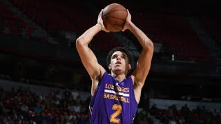 Lonzo Ball 2nd Triple Double! Wears Harden Adidas! 16 Pts 12 Asts 10 Rebs NBA Summer League 2017