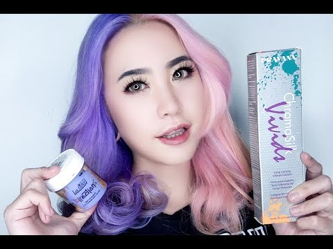 Lilac Pastel Pink Split Hair Tutorial Using Directions Pravana Niken Nicula