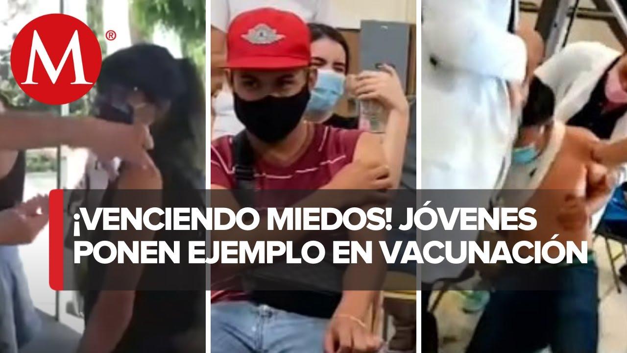 Centenials ponen el ejemplo al aplicarse la vacuna contra el covid-19