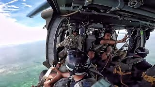 Video Parachute Jump Into Water From Black Hawk Helicopter download MP3, 3GP, MP4, WEBM, AVI, FLV November 2018