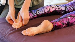 Foot & Leg Massage Tutorial for Pain Relief & Relaxation | HD Foot Massage Tutorial with Jade
