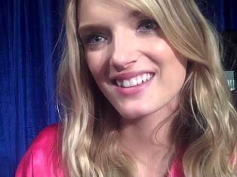 Interview with supermodel Lily Donaldson backstage - Victoria's Secret Fashion Show