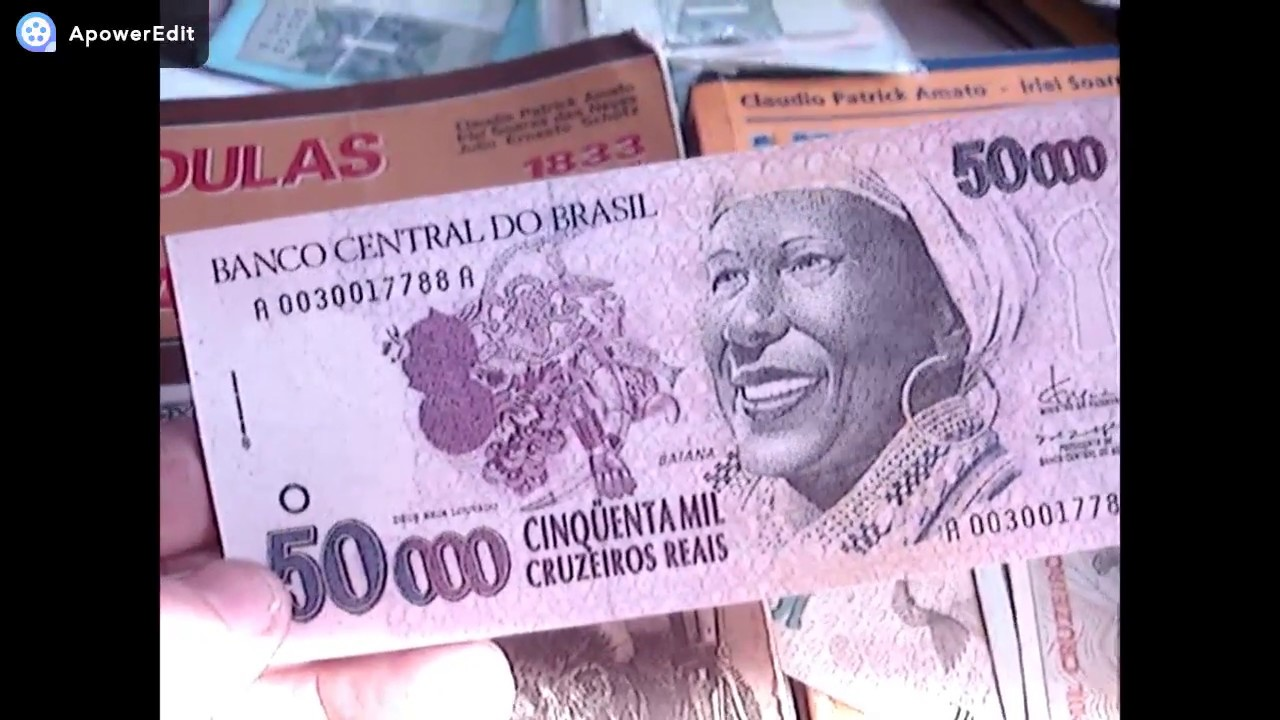 Cedula Rara Uma Das Mais Valiosa 50 Mil Cruzeiros 1994 Baiana
