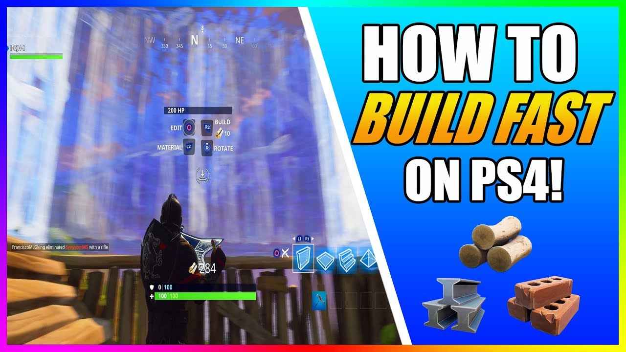 - how to build fast in fortnite